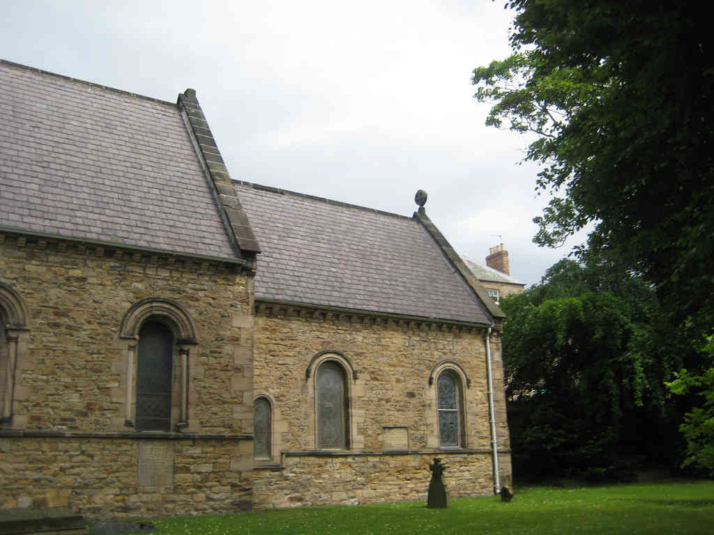 St. John's church sits within an otherwise residential area